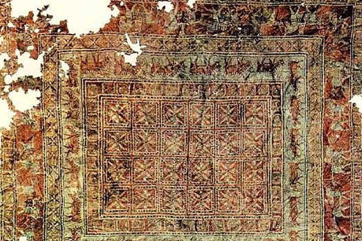 قالی پازیریک - نشانههای یک فرش ایرانی